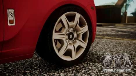 Rolls-Royce Ghost v1 para GTA San Andreas traseira esquerda vista