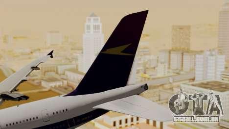 Airbus A380-800 British Overseas Airways Corp. para GTA San Andreas traseira esquerda vista