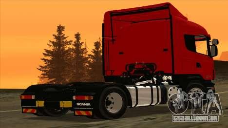 Scania R420 4x2 para GTA San Andreas traseira esquerda vista