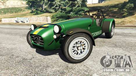 GTA 5 Caterham Super Seven 620R v1.5 [green] vista lateral direita