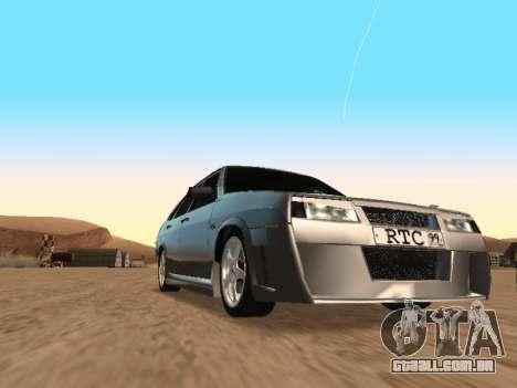 VAZ 21099 para GTA San Andreas traseira esquerda vista
