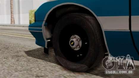 Chevy Caprice Station Wagon 1993-1996 NYPD para GTA San Andreas traseira esquerda vista