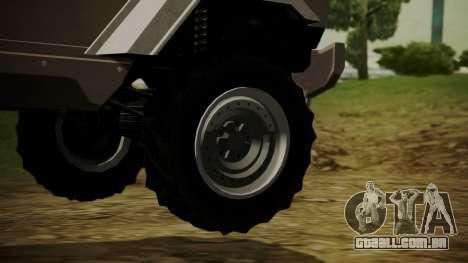 GTA 5 HVY Insurgent para GTA San Andreas traseira esquerda vista