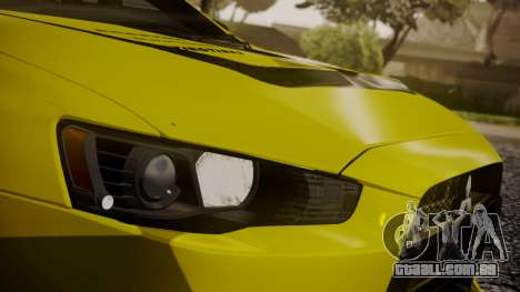 Mitsubishi Lancer Evolution X 2015 Final Edition para GTA San Andreas vista inferior