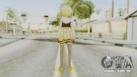 Project Diva F 2nd - Kagamine Rin Cheerful Candy para GTA San Andreas terceira tela
