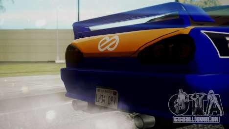 Elegy NR32 without Neon Exclusive PJ para GTA San Andreas vista direita