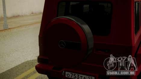 Mercedes-Benz G350 Bluetec para GTA San Andreas vista traseira