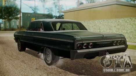 Chevrolet Impala SS 1964 Low Rider para GTA San Andreas esquerda vista