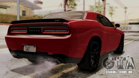 Dodge Challenger SRT Hellcat 2015 HQLM para GTA San Andreas esquerda vista