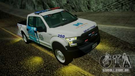 Ford F-150 2015 Transito Vial para GTA San Andreas vista direita