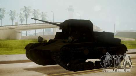 T2 Light Tank para GTA San Andreas
