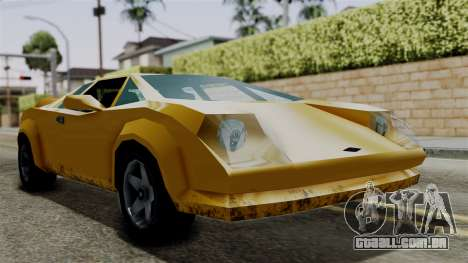 Infernus from Vice City Stories para GTA San Andreas traseira esquerda vista