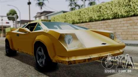Infernus from Vice City Stories para GTA San Andreas traseira esquerda vista