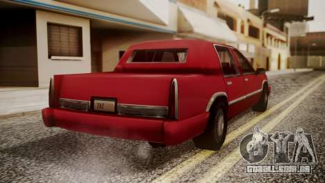 Stretch Sedan para GTA San Andreas esquerda vista