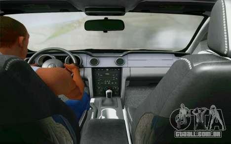 Ford Mustang GT 2005 para GTA San Andreas vista interior