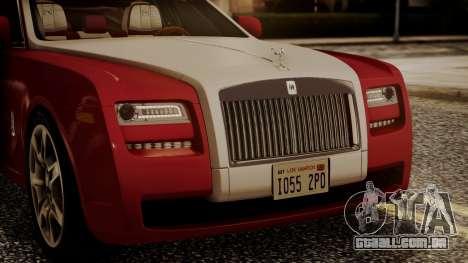 Rolls-Royce Ghost v1 para GTA San Andreas vista interior