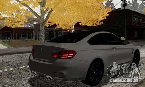 BMW M4 F82 para GTA San Andreas traseira esquerda vista