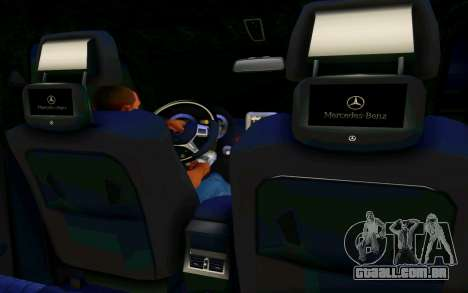 Mercedes-Benz G65 AMG para GTA San Andreas vista interior