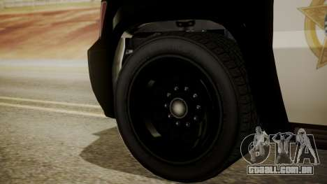 GTA 5 Declasse Granger Sheriff SUV IVF para GTA San Andreas traseira esquerda vista