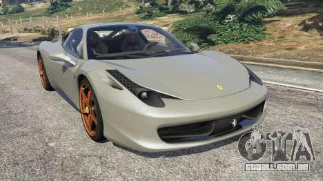Ferrari 458 Italia 2009 v1.4 para GTA 5