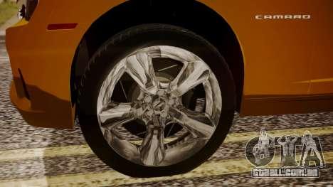 Chevrolet Camaro SS 2015 para GTA San Andreas traseira esquerda vista
