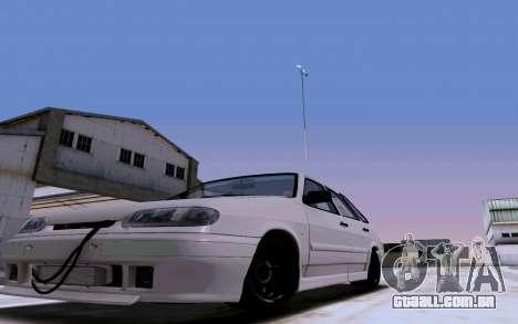 2114 Turbo para GTA San Andreas vista superior