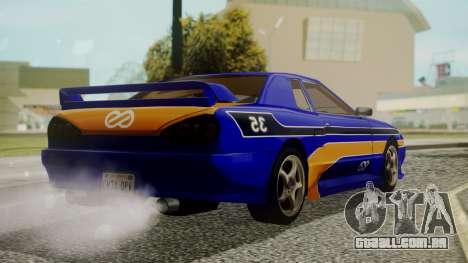 Elegy NR32 without Neon Exclusive PJ para GTA San Andreas esquerda vista