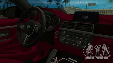 BMW M4 Coupe 2015 para GTA San Andreas vista direita