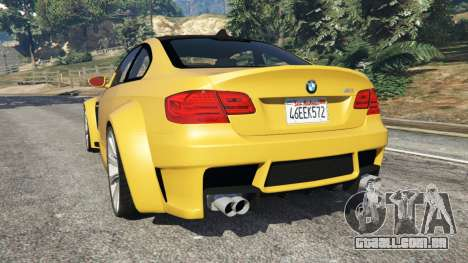 GTA 5 BMW M3 (E92) WideBody v1.1 traseira vista lateral esquerda