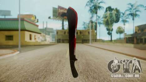 GTA 5 Machete (From Lowider DLC) Bloody para GTA San Andreas segunda tela