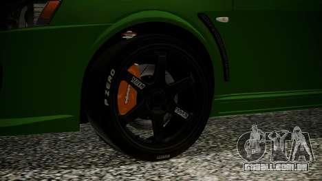Mitsubishi Lancer Evolution X WBK para GTA San Andreas traseira esquerda vista