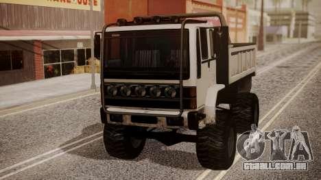 DFT Monster Truck 30 para GTA San Andreas traseira esquerda vista