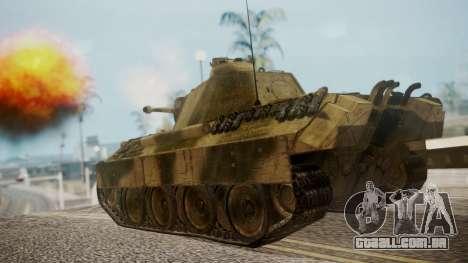 Panzerkampfwagen V Ausf. A Panther para GTA San Andreas esquerda vista