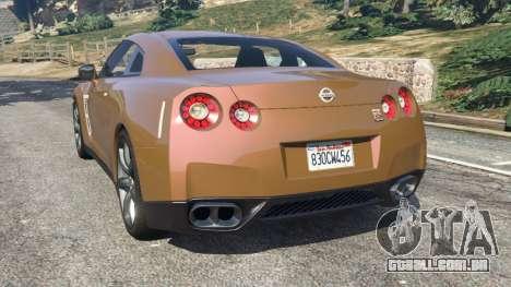 GTA 5 Nissan GT-R (R35) traseira vista lateral esquerda