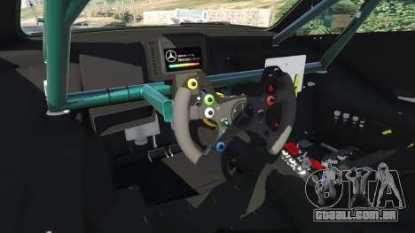GTA 5 Mercedes-Benz C204 AMG DTM 2013 v1.0 traseira direita vista lateral