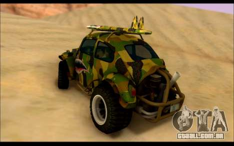 Volkswagen Baja Buggy Camo Shark Mouth para GTA San Andreas traseira esquerda vista