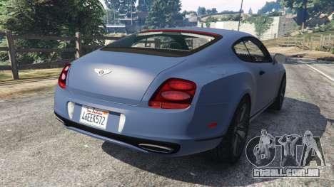 GTA 5 Bentley Continental Supersports [Beta2] traseira vista lateral esquerda