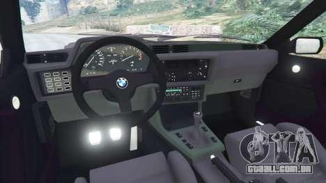 GTA 5 BMW M635 CSI (E24) 1986 vista lateral direita