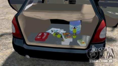Daewoo Nubira I Spagon 1.8 DOHC 1998 para GTA 4 vista superior