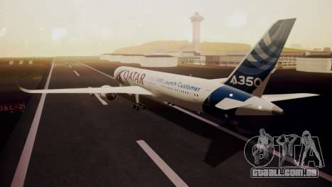 Airbus 350-900XWB Qatar Launch Customer para GTA San Andreas esquerda vista