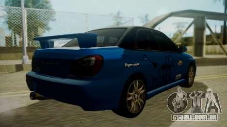 Subaru Impreza WRX GDA para o motor de GTA San Andreas