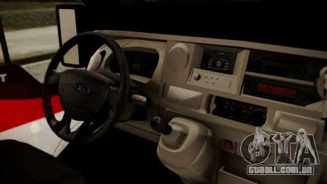 Ford Transit Jumbo Ambulance para GTA San Andreas vista direita