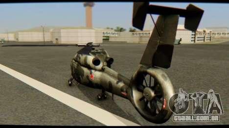 KA 60 Kasatka para GTA San Andreas esquerda vista