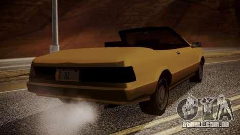 Cadrona Cabrio para GTA San Andreas esquerda vista