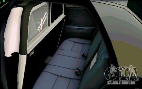 Weathersfield Police Crown Victoria para GTA San Andreas vista interior