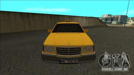 Mercedes-Benz W140 500SE Taxi 1992 para GTA San Andreas vista direita