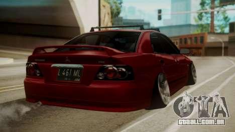 Mitsubishi Galant VR6 Stance para GTA San Andreas esquerda vista