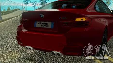 BMW M4 Coupe 2015 para GTA San Andreas vista superior