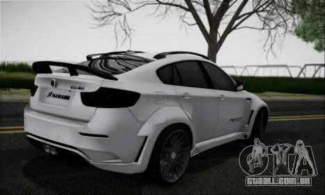 BMW X6M HAMANN Final para GTA San Andreas vista direita