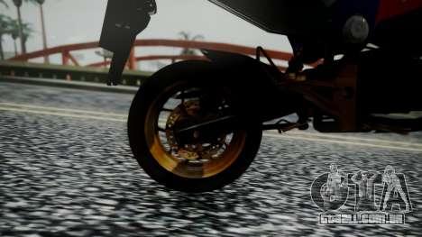 Honda MSX 125C Khmer para GTA San Andreas vista traseira